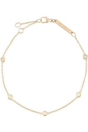 adidas 14kt yellow gold five floating diamond bracelet