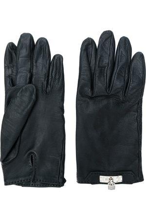 Hermès 1980's padlock-detail gloves