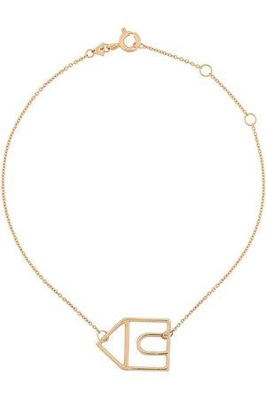 Aliita 9kt gold house charm bracelet