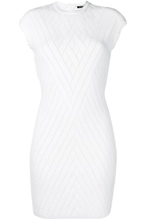 Balmain Ribbed knit fitted dress