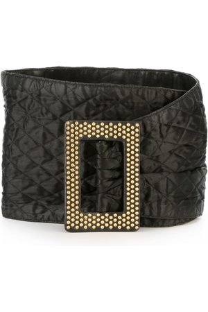 Yves Saint Laurent 1980's wide quilted belt