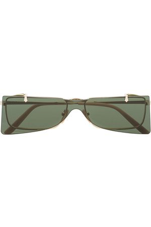Gucci Green and Gold Double Lens Sunglasses