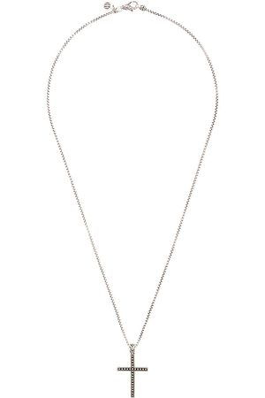 John Hardy Silver Classic Chain Jawan Necklace with Cross Pendant
