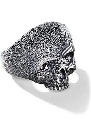 David Yurman Waves diamond skull ring