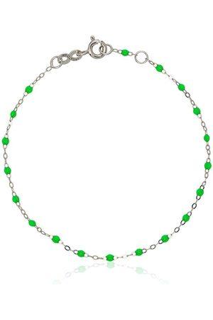GIGI CLOZEAU 18K white gold green beaded bracelet