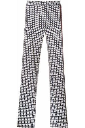 VALENTINO Chevron print trousers