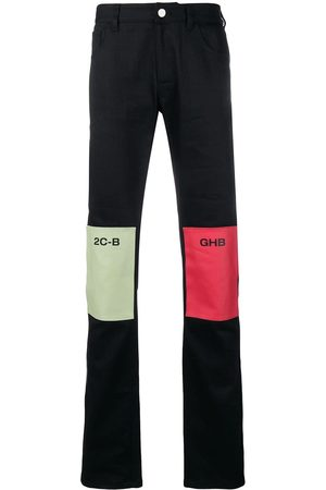 RAF SIMONS Straight leg patch jeans
