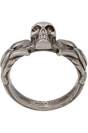 Alexander McQueen Skull-detail braided ring