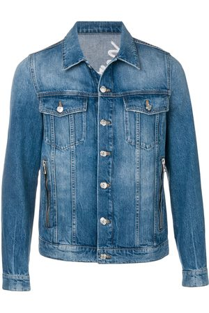 Balmain Embroidered logo denim jacket