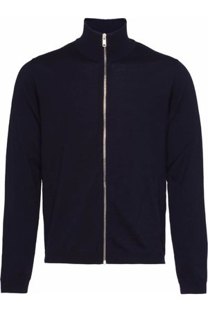 Prada High neck zip front cardigan
