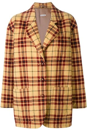 Emporio Armani 1980's plaid quilted jacket