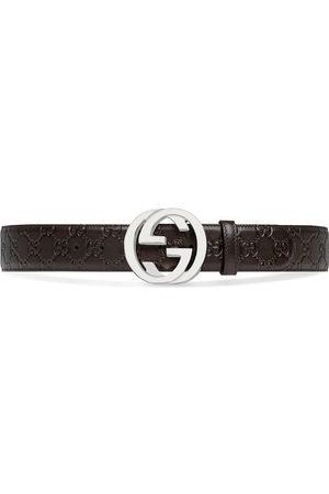 Gucci Muži Pásky - GG Supreme buckle belt