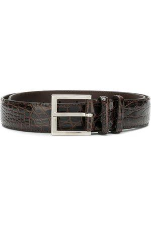 Orciani Muži Pásky - Textured buckled belt