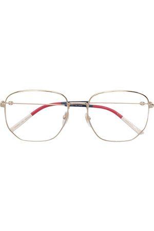 Gucci Hexagonal frame glasses