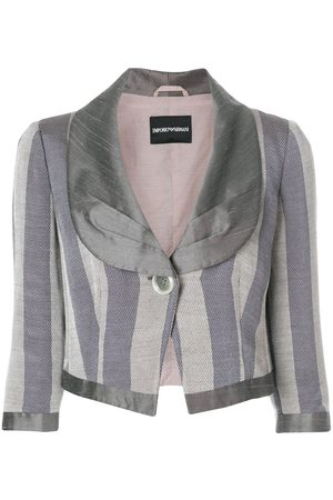 Emporio Armani Striped cropped jacket