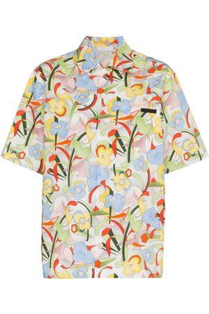 Prada Flower print short sleeved shirt