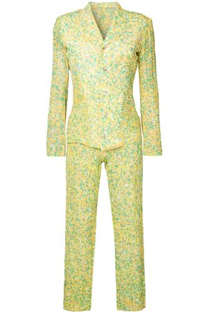 YOHJI YAMAMOTO Abstract print suit