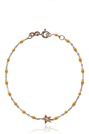 GIGI CLOZEAU Yellow RG star diamond and rose gold bracelet