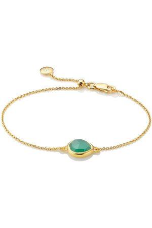 Monica Vinader Siren Fine Chain Green Onyx bracelet
