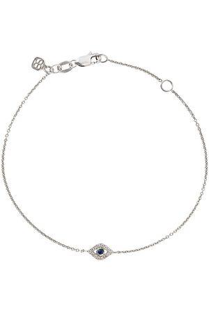 Sydney Evan 14kt white gold Eye sapphire and diamond bracelet