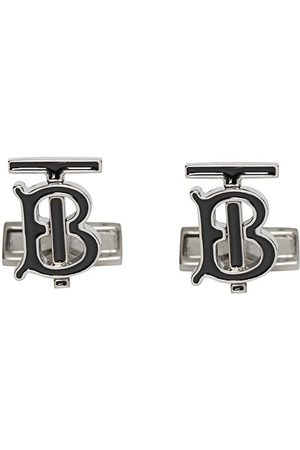 Burberry Monogram Motif Enamel and Palladium-plated Cufflinks