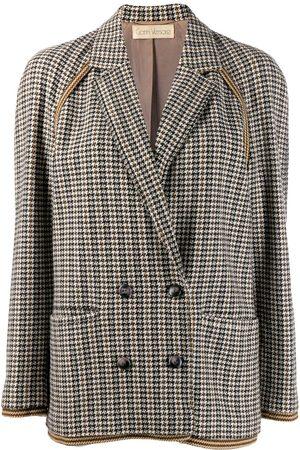 VERSACE 1980s houndstooth jacket