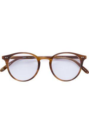GARRETT LEIGHT Round tortoiseshell glasses