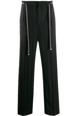 Saint Laurent Muži Rovné nohavice - Belted straight trousers