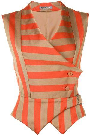 Issey Miyake Ženy Společenské vesty - Striped waistcoat