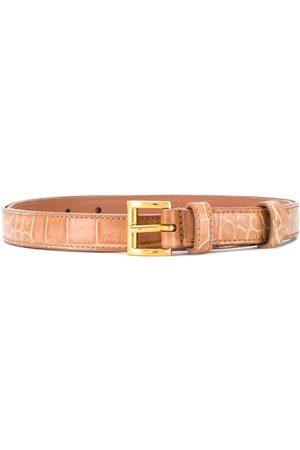 Prada Embossed slim belt
