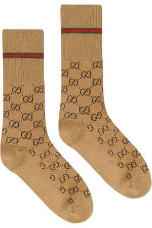 Gucci Muži Ponožky - GG cotton socks with Web