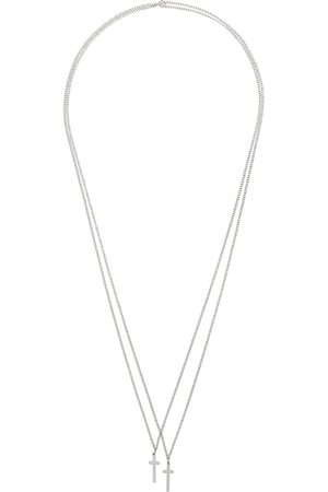 Dsquared2 Muži Náhrdelníky - Double cross necklace