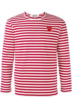 Comme des Garçons Striped heart logo top