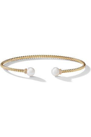 David Yurman 18kt yellow gold Solari pearl and diamond cuff
