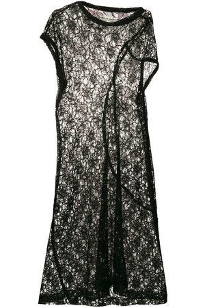 Comme des Garçons Asymmetric sheer lace dress