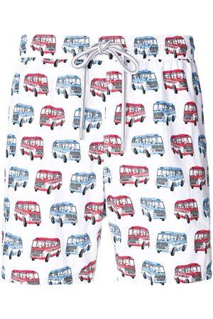 CAPRICODE Muži Šortky - Bus print swim shorts