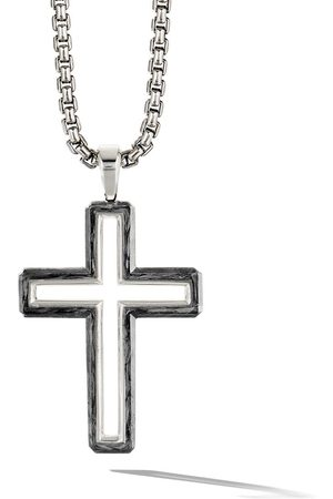 David Yurman Forged Carbon cross pendant