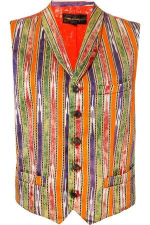 Comme des Garçons Bleached back striped waistcoat