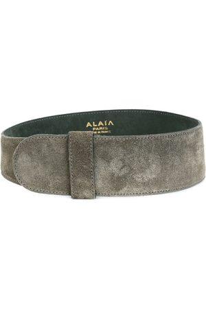 Alaïa Wide suede belt