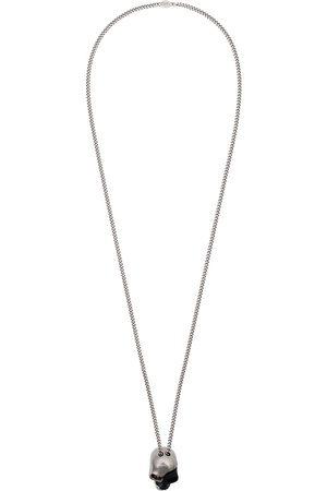Alexander McQueen Divided skull pendant necklace
