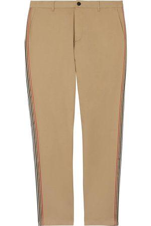 Burberry Muži Chino - Slim Fit Icon Stripe Detail Cotton Chinos