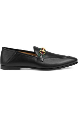Gucci Leather Horsebit loafers with Web
