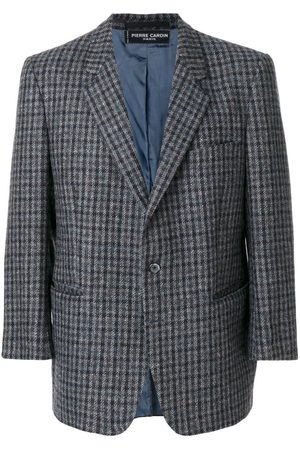 Pierre Cardin Checked notched lapel jacket