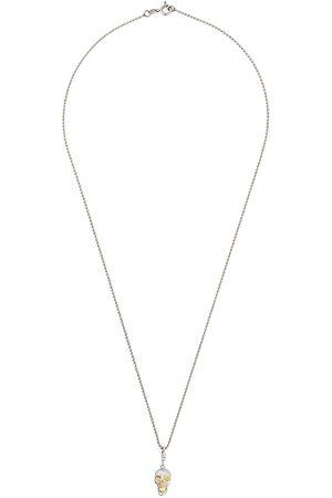 TRUE ROCKS Náhrdelníky - Two tone skull pendant necklace