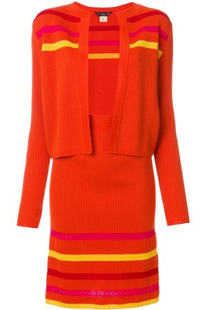 John Galliano Striped knitted skirt suit