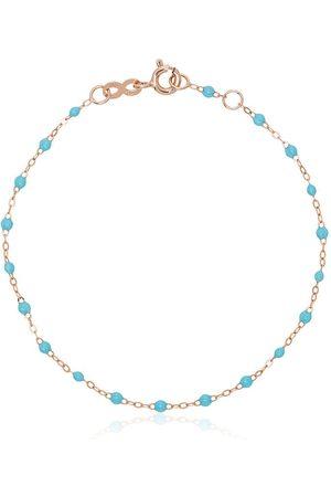 GIGI CLOZEAU 18k rose gold blue beaded bracelet