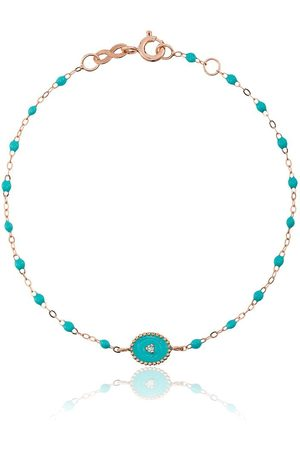 GIGI CLOZEAU Turquoise blue madone diamond and rose gold bracelet