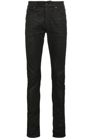 Saint Laurent Black coated skinny jeans