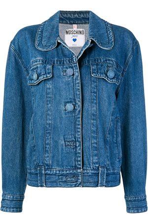 Moschino Round-collar denim jacket