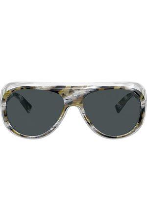 ALAIN MIKLI Marble oversized sunglasses
